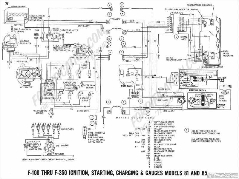 ford truck technical drawings and schematics section h wiring 51?ssl=1 ford 3000 charging system wiring diagram wiring forums Ford Charging System Troubleshooting at alyssarenee.co