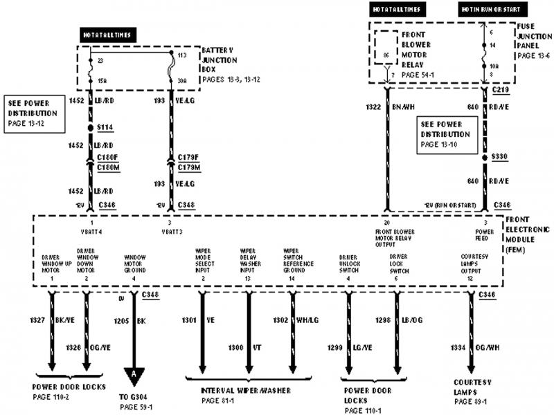 03 Ford Windstar Relay Diagram  Wiring Forums