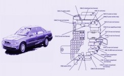 Fuse Box Diagram For 1992 Acura Legend 3.2L | Fuse Box Diagram & Map