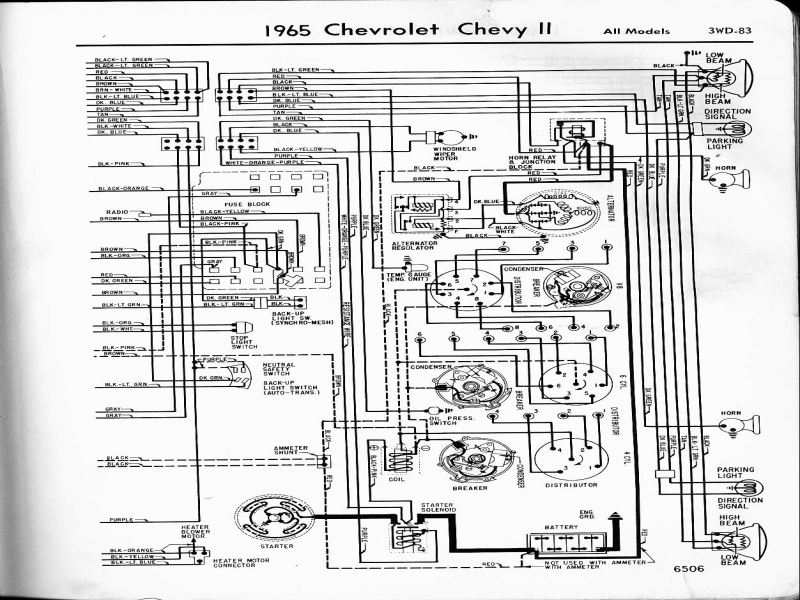 1971 chevy nova wiring diagram manual reprint