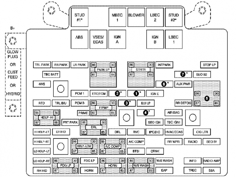 2004 Chevy    Silverado       Fuse       Box       Diagram     Wiring Forums