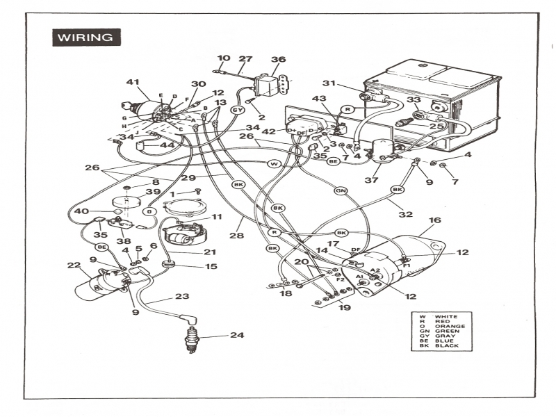 1970 Harley Davidson Golf Cart Wiring Diagram