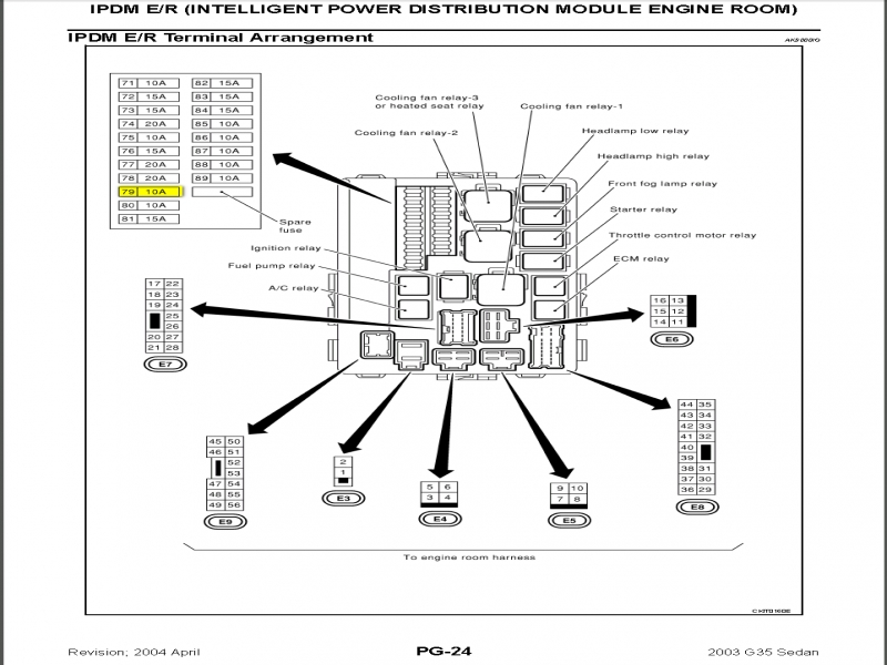 2004 Nissan Maxima Headlight Diagram