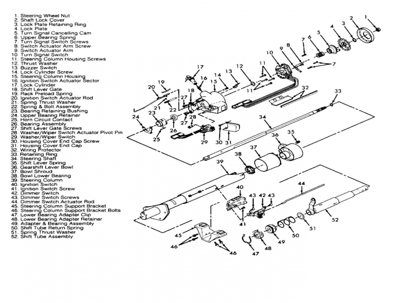How Do I Get A Diagram Of A Steering Column Of A 1993