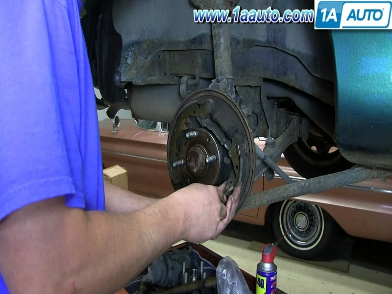 How To Replace Install Rear Drum Brake Shoes Ford Escort