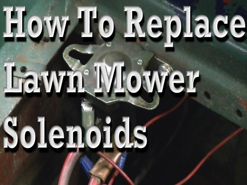 How To Replace Lawn Mower Solenoids  With Wiring Diagram