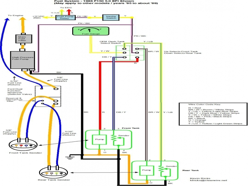 Chevy Truck Dual Tank Fuel Wiring Diagram  Wiring Forums