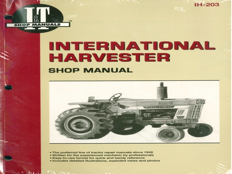 International Harvester Tractor Service Manual 454 464 484