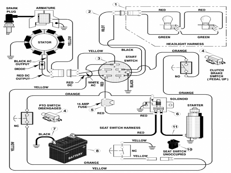 Murray Lawn Tractor Wiring Diagram  Wiring Forums
