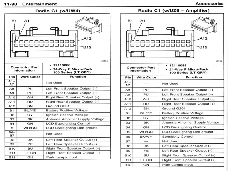 pontiac car radio stereo audio wiring diagram autoradio connector 1 2005 pontiac grand prix radio wiring harness pontiac wiring 2005 Pontiac Grand Prix Wiring Diagrams at edmiracle.co