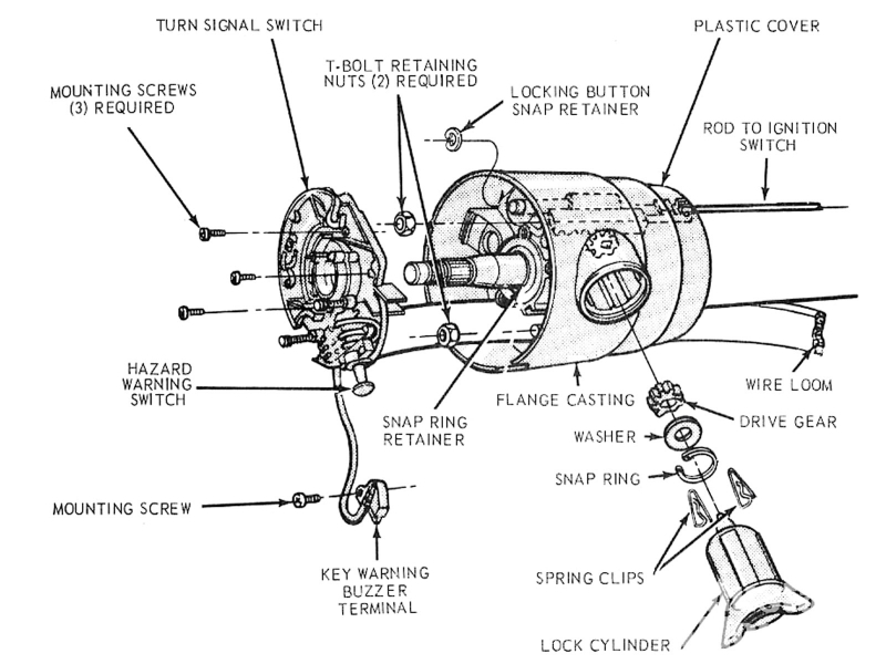 Stering Colunm Wiring Diagram 1989 Ford Bronco