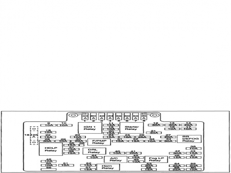 1996 Chevy Blazer Fuse Box Diagram