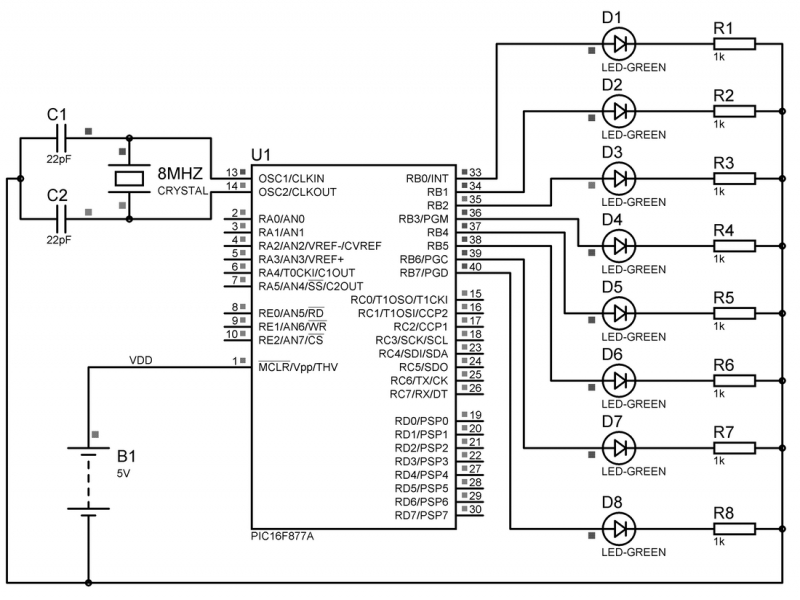 Rotary Encoder Circuit ~ Wiring Diagram Components