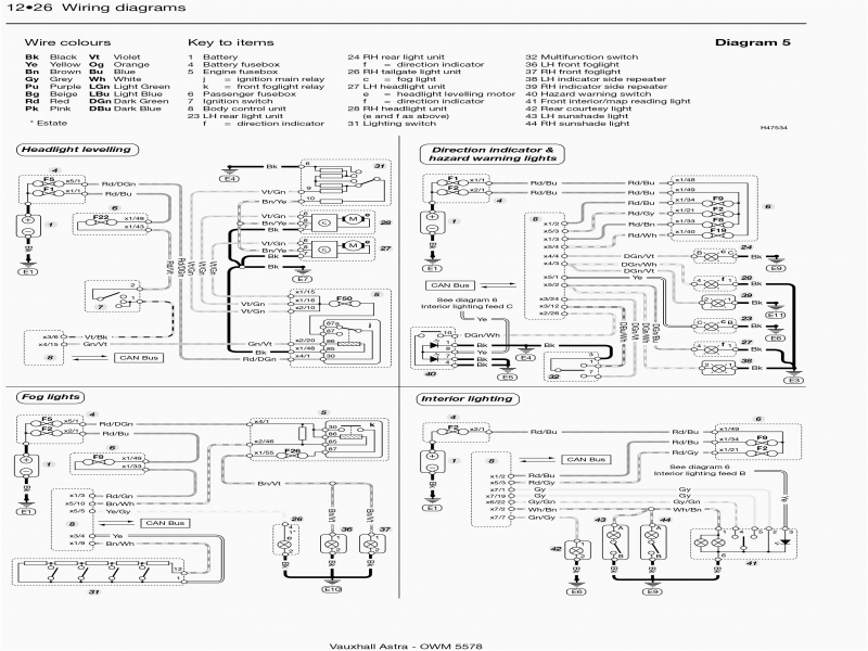 Vauxhall Astra Fuse Box 1999 - List of Wiring Diagrams on