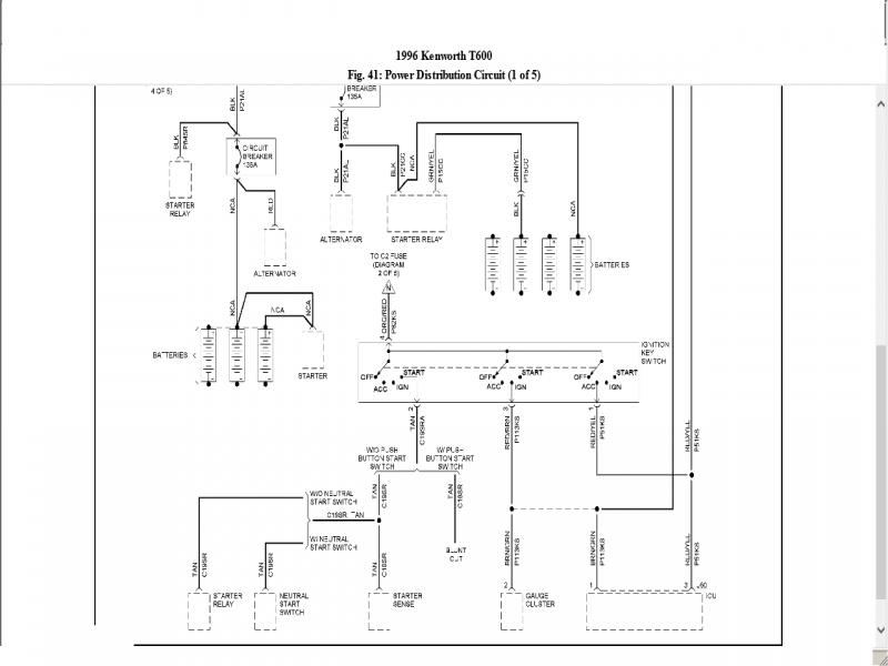 2000 kenworth w900 wiring diagram - somurich.com kenworht t800 wiring diagram for