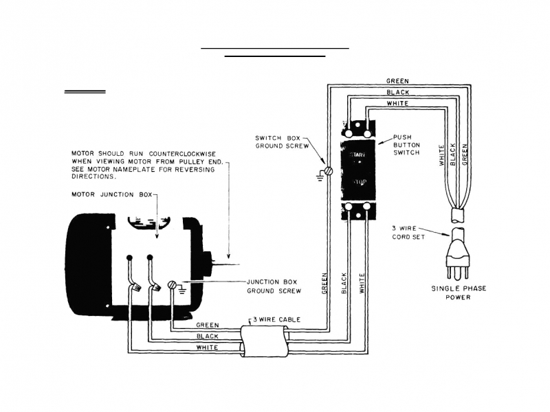 Single Phase Electric Motor Starter Wiring Diagram Diagram