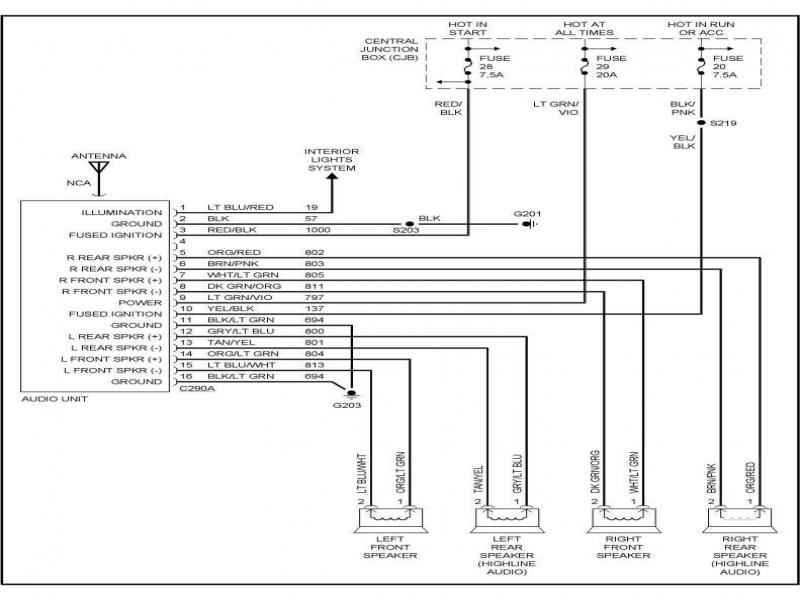 2000 Ford Ranger Radio Wiring Diagram  Wiring Forums