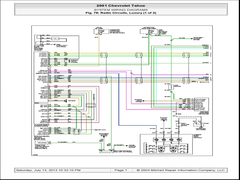 2004 Chevy Suburban Radio Wiring Diagram  Wiring Forums