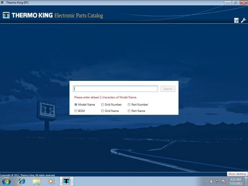 Thermo King 2014, Spare Parts Catalog, Trucks / Buses Catalogs