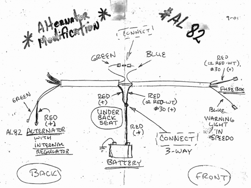 Vw Bug Alternator Conversion Wiring Diagram  Wiring Forums