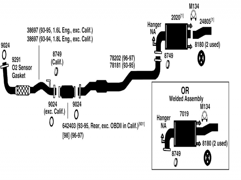 2003 hyundai elantra exhaust diagram