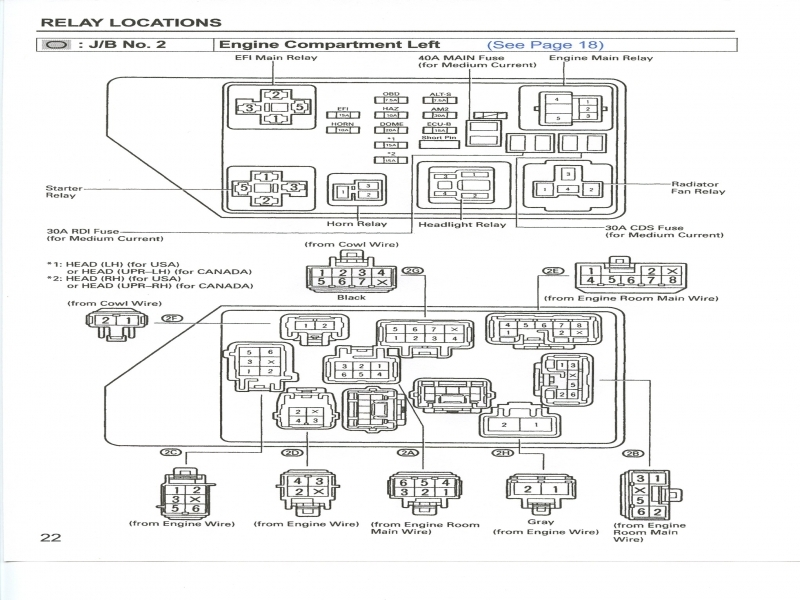 2000 Toyota 3 4 Schematic Diagrams
