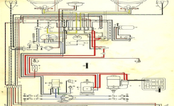 Wiring Diagram In Color. 1964 Vw Bug, Beetle, Convertible. The