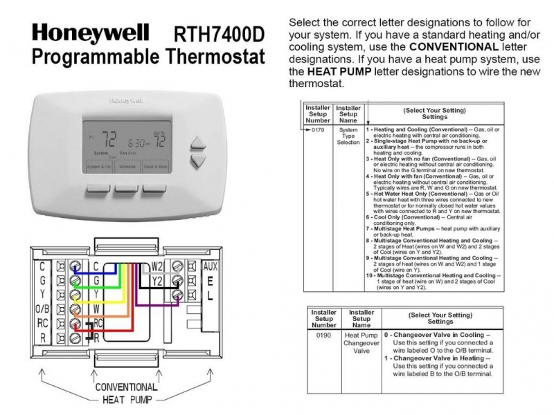 2 Stage Honeywell 6000 Thermostat Wiring Diagram  Wiring