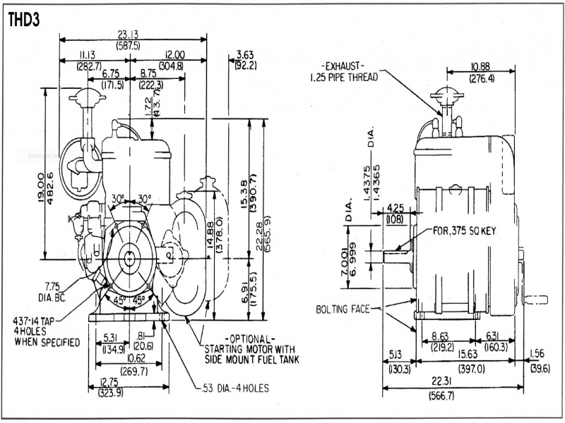 Wisconsin Engines Thd Engine Repair Specification on 390 Ford Engine Diagram