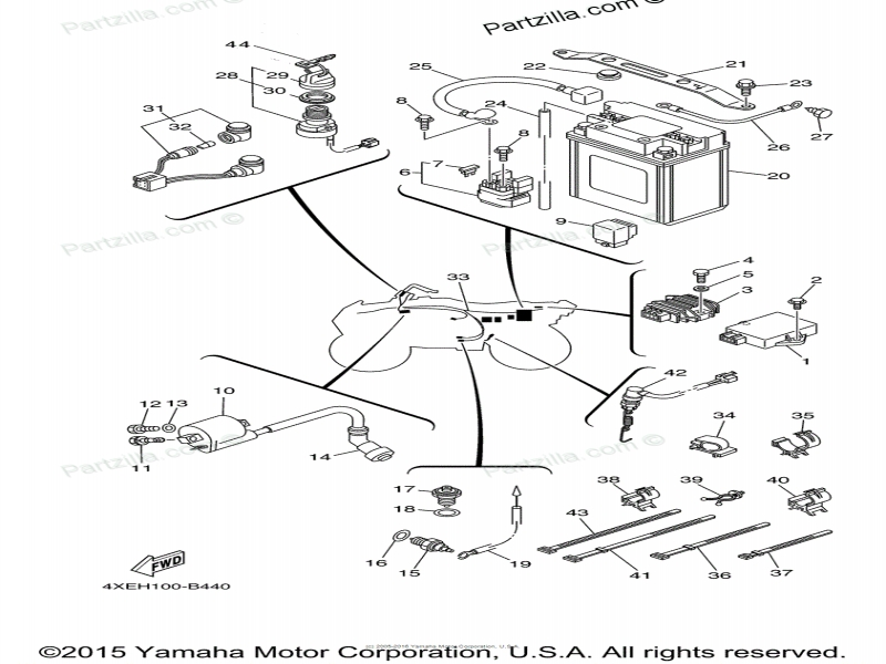 Yamaha 250 Bear Tracker Wiring Diagram  Wiring Forums