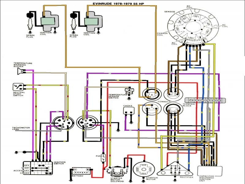 Mercury V6 Outboard Wiring Diagram : Hp johnson wiring diagram forums
