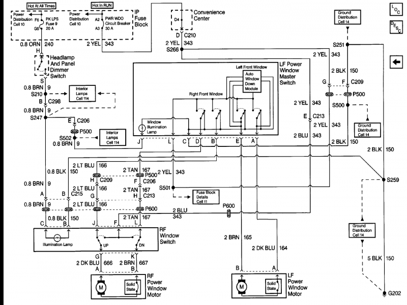 1999 Chevy Tahoe Wiring Diagram : Chevy truck power window wiring diagram forums
