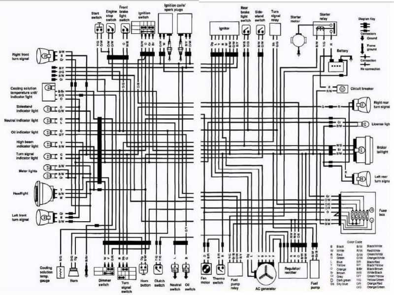 Modern 2006 Gsxr 1000 Wiring Diagram Gallery - Electrical and Wiring ...