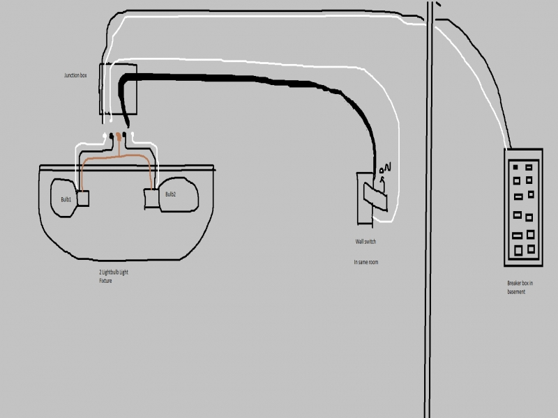hooking two to one switch diagram light