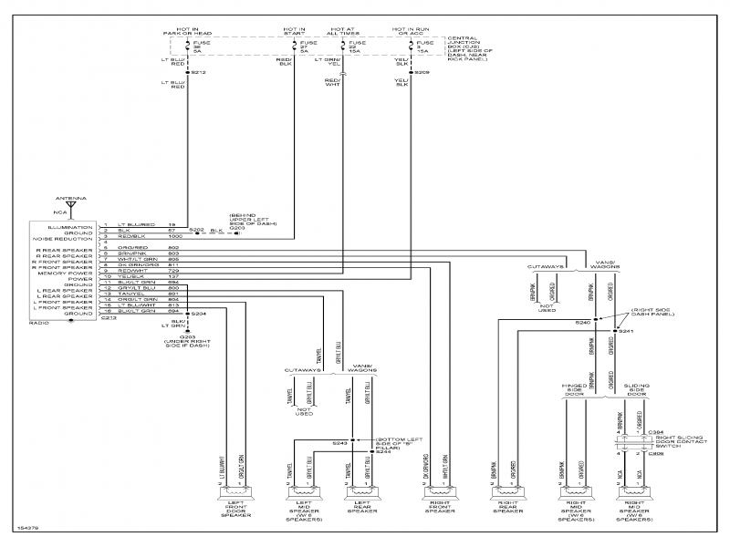 2003 Ford E250 Van Fuse Box Diagram