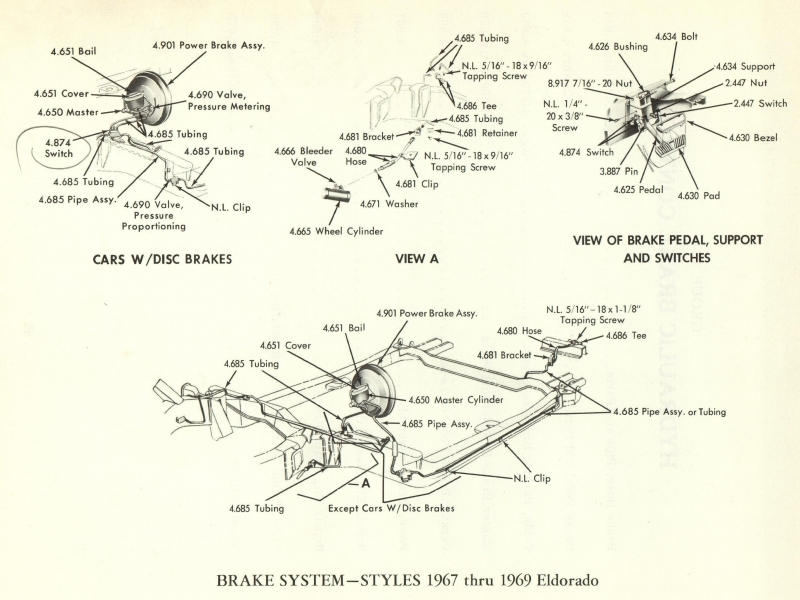 Group 4.5 Hydraulic Brake Control - Exploded Views Master Parts