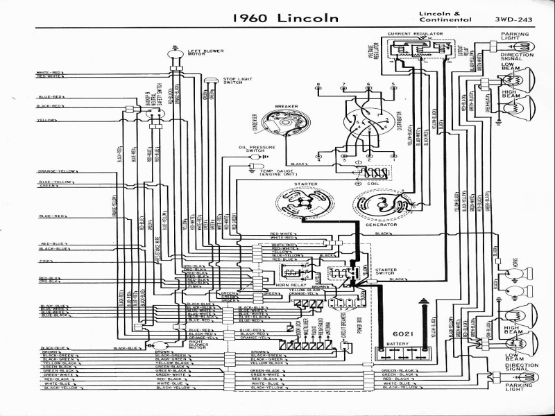Lincoln Wiring Diagrams: 1957 - 1965
