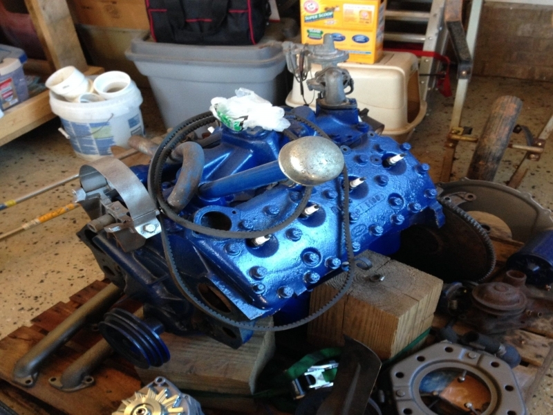 Rebuilt 1951 Ford V8 Flathead And 3 Speed Transmission Only