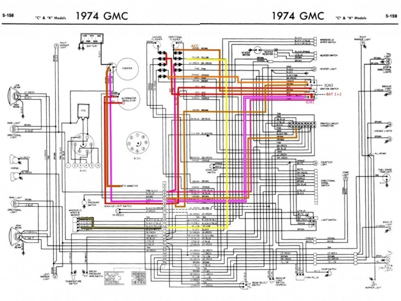 1973 C10 Wiring Diagram  Wiring Forums