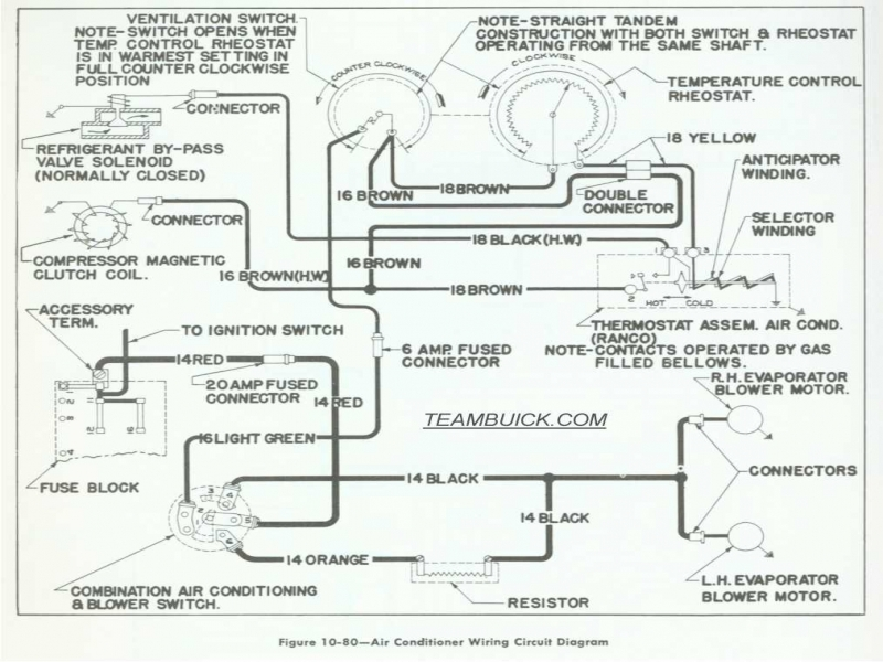 1955 Buick Wiring Diagrams, Air Conditioning