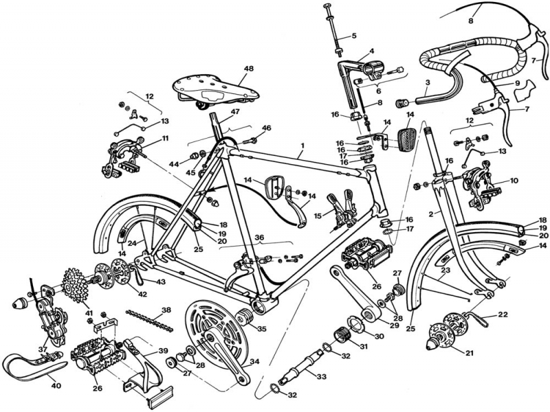 55 Moreover Raleigh Bicycle Exploded Drawings And Parts Lists 1977 Images