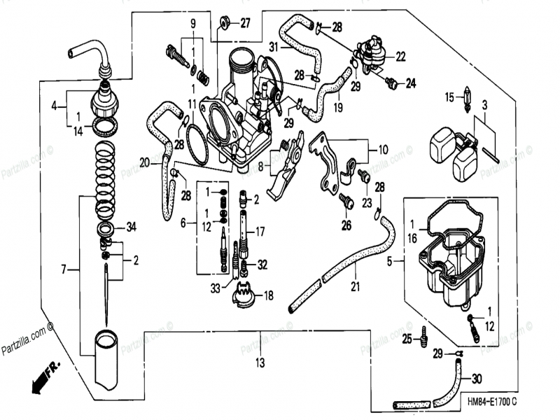 Free Honda Atv 2000 Oem Parts Diagram For Carburetor