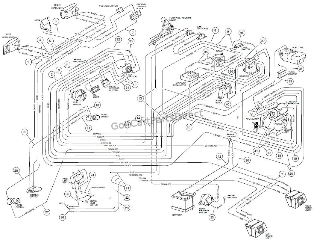 Ez Go Golf Cart Wiring Diagram Gas Engine