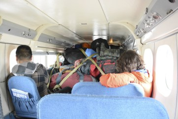 Gear packed and loaded. Kevin and Jill on our way in to the field on a twin otter.