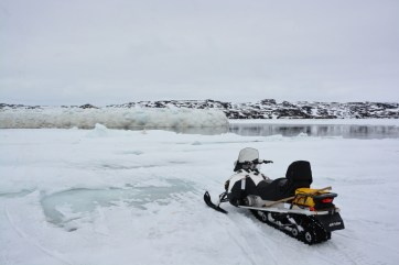 Visiting the area where a polynya was present in Frobisher Bay, NU. (A.Garbo)