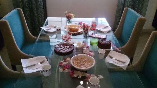 Coffee and cake table which Isabell had already prepared for me and my colleagues
