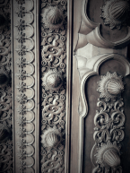 Detail of the beautiful gates in the city palace