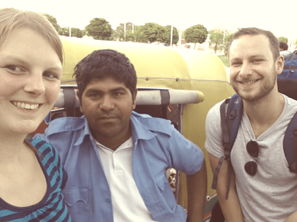 Selfie with Mohan, he was driving us around in jaipur most of the time.