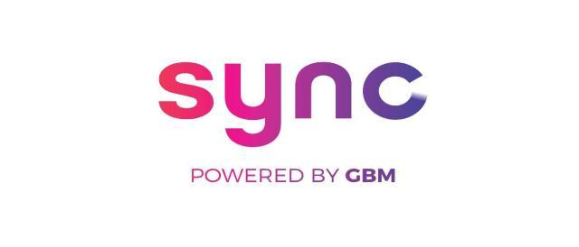 Sync Powered by GBM logo