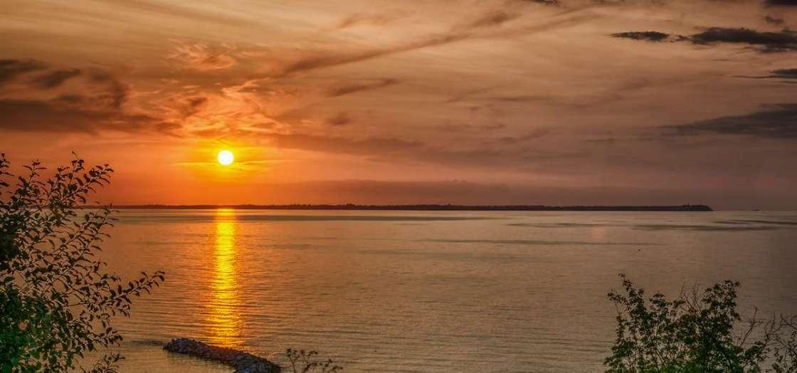 Sonnenuntergang Lohme